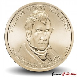 ETATS UNIS / USA - PIECE de 1 Dollar - Séries Présidents: William Henry Harrison - 2009 - D Km#450