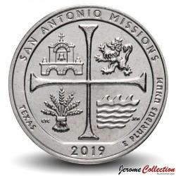 ETATS UNIS / USA - PIECE de 25 Cents - America the Beautiful - San Antonio Missions National Historical Park - 2019 - S Km#New