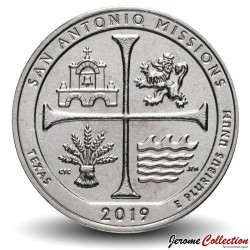 ETATS UNIS / USA - PIECE de 25 Cents - America the Beautiful - San Antonio Missions National Historical Park - 2019 - P Km#New