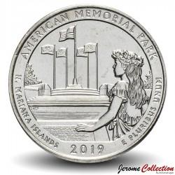 ETATS UNIS / USA - PIECE de 25 Cents - America the Beautiful - American Memorial Park - Guam - 2019 - P Km#New