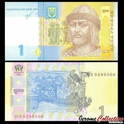 UKRAINE - Billet de 1 Hrivnya - Prince St. Vladimir - 2018 P116Ad