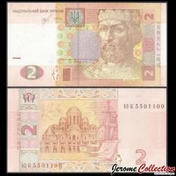 UKRAINE - Billet de 2 Hrivni - Prince Yaroslav - 2018 P117e