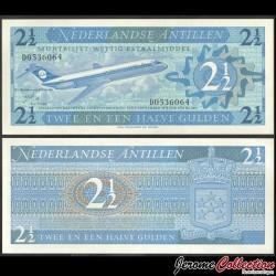 ANTILLES NÉERLANDAISES - Billet de 2½ Gulden - Avion Douglas DC-9-15 - 1970 P21a