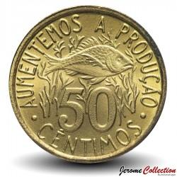 SAO TOMÉ-ET-PRINCIPE - PIECE de 50 cêntimos - FAO - 1977 Km#25