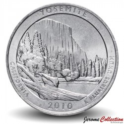 ETATS UNIS / USA - PIECE de 25 Cents - America the Beautiful - Parc national de Yosemite - 2010 - D Km#471