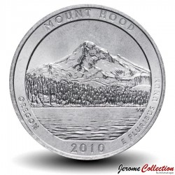 ETATS UNIS / USA - PIECE de 25 Cents - America the Beautiful - Forêt nationale de Mount Hood - 2010 - D Km#473