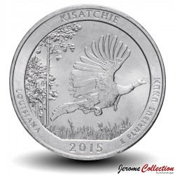 ETATS UNIS / USA - PIECE de 25 Cents - America the Beautiful - Forêt nationale de Kisatchie - 2015 - P Km#598