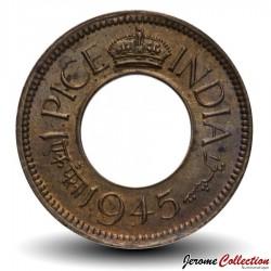 INDE BRITANNIQUE - PIECE de 1 Pice - George VI - 1945 Km#533