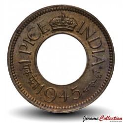 INDE BRITANNIQUE - PIECE de 1 Pice - George VI (Calcutta) - 1945 Km#533
