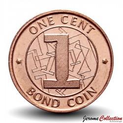 ZIMBABWE - PIECE de 1 Cent - Bond coin - 2014 Km#16