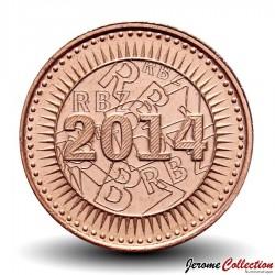 ZIMBABWE - PIECE de 1 Cent - Bond coin - 2014