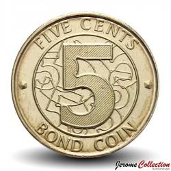 ZIMBABWE - PIECE de 5 Cents - Bond coin - 2014 Km#17