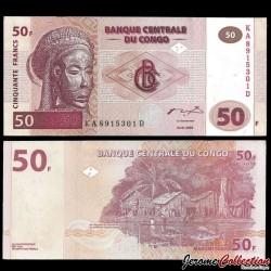 CONGO - BILLET de 50 Francs - GD - 2007 P97a