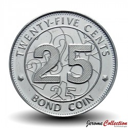 ZIMBABWE - PIECE de 25 Cents - Bond coin - 2014 Km#19