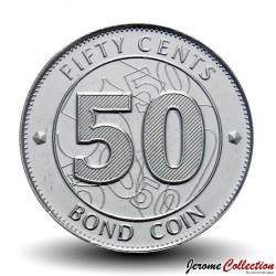 ZIMBABWE - PIECE de 50 Cents - Bond coin - 2014 Km#20