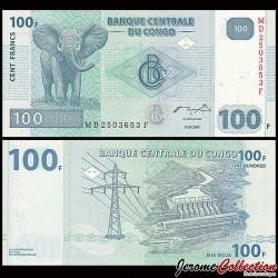 CONGO - BILLET de 100 Francs - 2007
