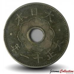 JAPON - PIECE de 10 Sen - Empereur Taishō - 1922 Y#45