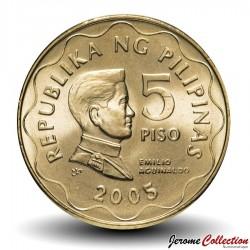 PHILIPPINES - PIECE de 5 Piso - Emilio Aguinaldo - 2005 Km#272