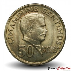 PHILIPPINES - PIECE de 50 sentimos - Marcelo Delpilar - 1972 Km#200