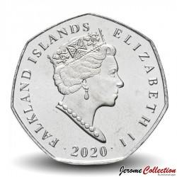 MALOUINES / FALKLAND - PIECE de 50 Pence - Manchots papou - 2020