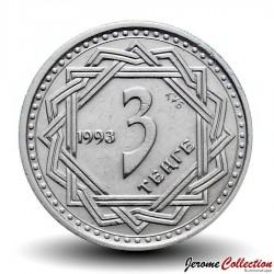 KAZAKHSTAN - PIECE de 3 Tenge - Loup Mythique - 1993
