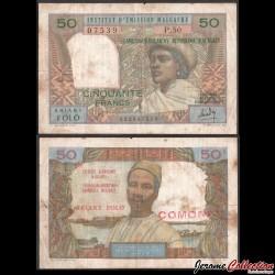 COMORES - Billet de 50 Francs - 1969 P2aa