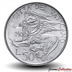 VATICAN - PIECE de 50 Lires - Lion Ailé - 1985 Km#187