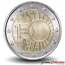 BELGIQUE- PIECE de 2 Euro - Institut royal météorologique - 2013 Km#323