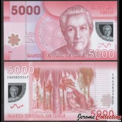 CHILI - BILLET de 5000 Pesos - Polymer - Hibou - 2014 P163e