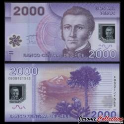 CHILI - BILLET de 2000 Pesos - Polymer - Perruche - 2009 P162a