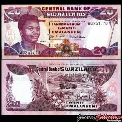 SWAZILAND (Eswatini) - Billet de 20 Emalangeni - Roi Mswati III - 2001 P30a