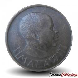 MALAWI - PIECE de 2 Tambala - Oiseau de paradis / President Dr. Hastings Kamuzu Banda - 1984