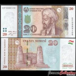 TADJIKISTAN - Billet de 20 Somoni - Avicenne - 2018 P25c