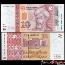 TADJIKISTAN - Billet de 10 Somoni - Mir Sayyid Ali Hamadani - 2018 P24c