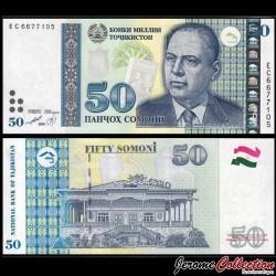 TADJIKISTAN - Billet de 50 Somoni - Bobojon Gafurov - 1999 P24c