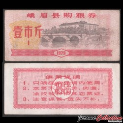 CHINE - Province du Sichuan - Ticket de rationnement / Liangpiao - 1 - 1979 Sichuan