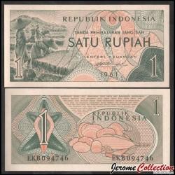 INDONESIE - Billet de 1 Satu Rupiah - 1961 P78a