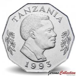 TANZANIE - PIECE de 5 shilingi - Ali Hassan Mwinyi - 1993