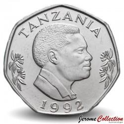 TANZANIE - PIECE de 20 shilingi - Éléphant et éléphanteau - 1992