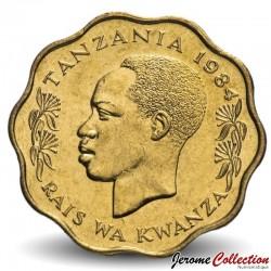 TANZANIE - PIECE de 10 Senti - Zèbre - 1984