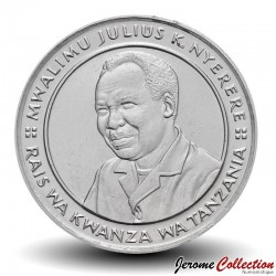TANZANIE - PIECE de 10 shilingi - Julius Nyerere - 1993 Km#20a