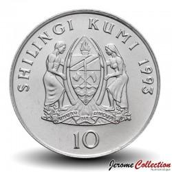 TANZANIE - PIECE de 10 shilingi - Julius Nyerere - 1993