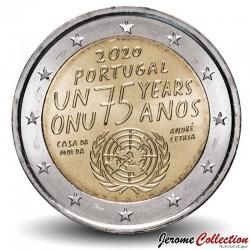 PORTUGAL - PIECE de 2 Euro - 75e anniversaire de la fondation de l'ONU - 2020 Km#new