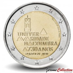 PORTUGAL - PIECE de 2 Euro - Université de Coimbra - 2020 Km#new