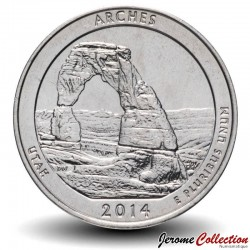 ETATS UNIS / USA - PIECE de 25 Cents - America the Beautiful - Parc national des Arches - 2014 - D Km#568