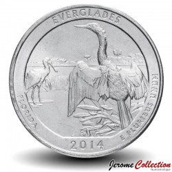 ETATS UNIS / USA - PIECE de 25 Cents - America the Beautiful - Parc national des Everglades - 2014 - D Km#570