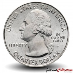 ETATS UNIS / USA - PIECE de 25 Cents - America the Beautiful - Parc national des Everglades - Floride - 2014 - P