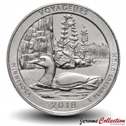 ETATS UNIS / USA - PIECE de 25 Cents - America the Beautiful - Voyageurs National Park, Minnesota - 2018 - D Km#New