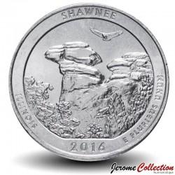 ETATS UNIS / USA - PIECE de 25 Cents - America the Beautiful - Forêt nationale de Shawnee - 2016 - P Km#635