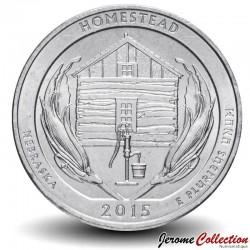 ETATS UNIS / USA - PIECE de 25 Cents - America the Beautiful - Monument national de Homestead - 2015 - D Km#597